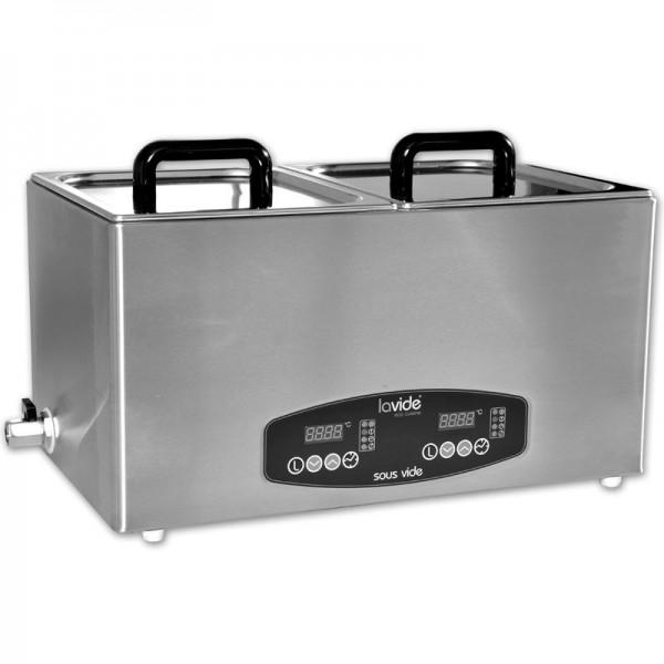 LaVide Sous-Vide Wasserbad LV.808 mit 2 x 8 Liter (getrennt regelbar)