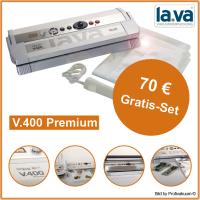 La.Va LaVa V400 Premium Vakuumierer - 3 Schweißnähte & 46 cm Schweißbreite / 70 Gra...
