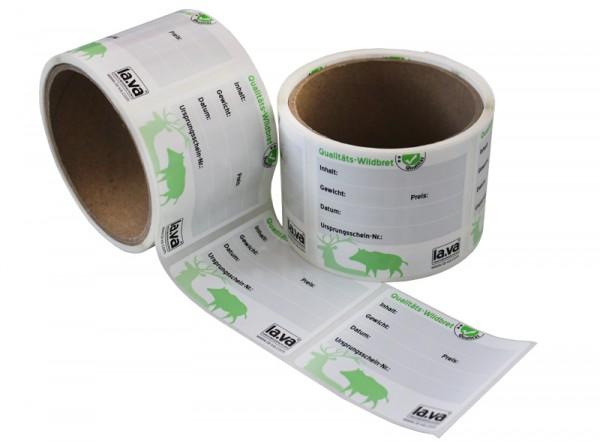 Jagd Etiketten für die Beschriftung von Vakuumbeuteln