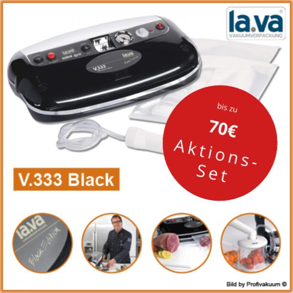 LaVa V333 Black Edition Vakuumiergerät - inkl. Beutelstartset